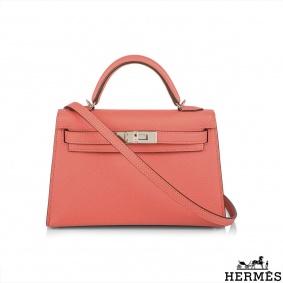 Hermès  Kelly II Sellier 20cm Epsom Jaipur Rose PHW